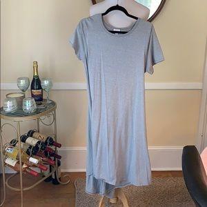 LuLa Roe Carly Dress Light Gray in EUC